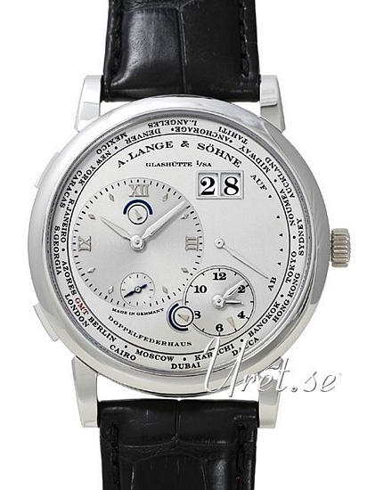 A. Lange & Söhne Lange 1 GMT Herrklocka 116.025 Silverfärgad/Läder - A. Lange & Söhne