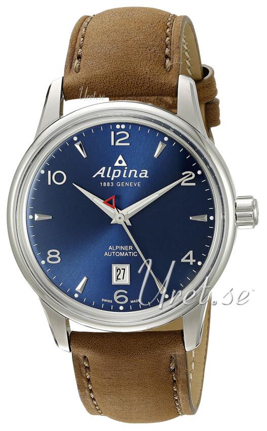 Alpina Alpiner Herrklocka AL-525N4E6 Blå/Läder Ø41 mm - Alpina