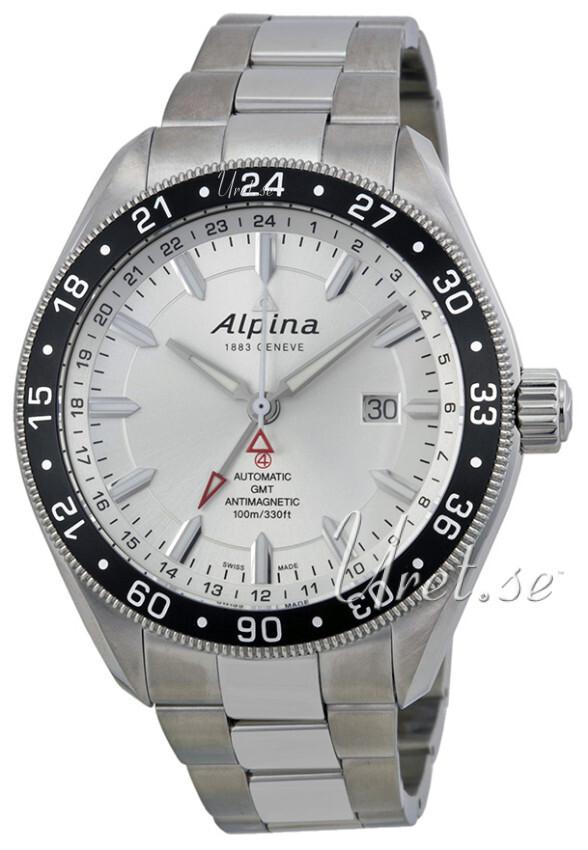 Alpina Alpiner Herrklocka AL-550S5AQ6B Silverfärgad/Stål Ø44 mm - Alpina