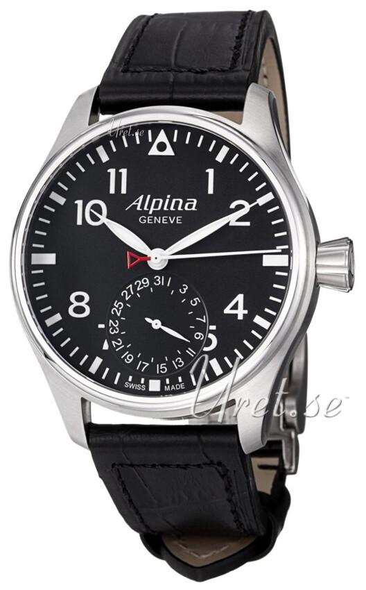 Alpina Startimer Herrklocka AL-710B4S6 Svart/Läder Ø44 mm - Alpina