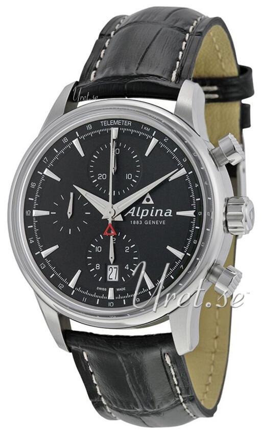 Alpina Alpiner Herrklocka AL-750B4E6 Svart/Läder Ø41.5 mm - Alpina