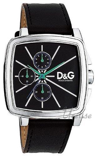 Dolce & Gabbana D&G Good Times Herrklocka DW0107 Svart/Läder Ø44 - Dolce & Gabbana D&G