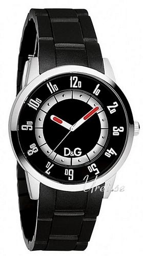 Dolce & Gabbana D&G Bariloche Herrklocka DW0626 Svart/Gummi Ø42 mm - Dolce & Gabbana D&G