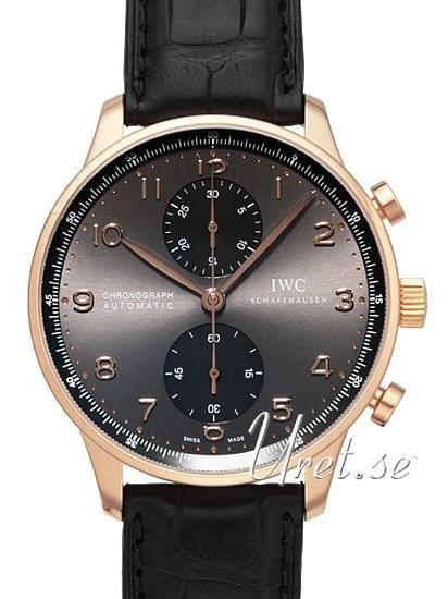 IWC Portuguese Herrklocka IW371482 Grå/Läder Ø40.9 mm - IWC