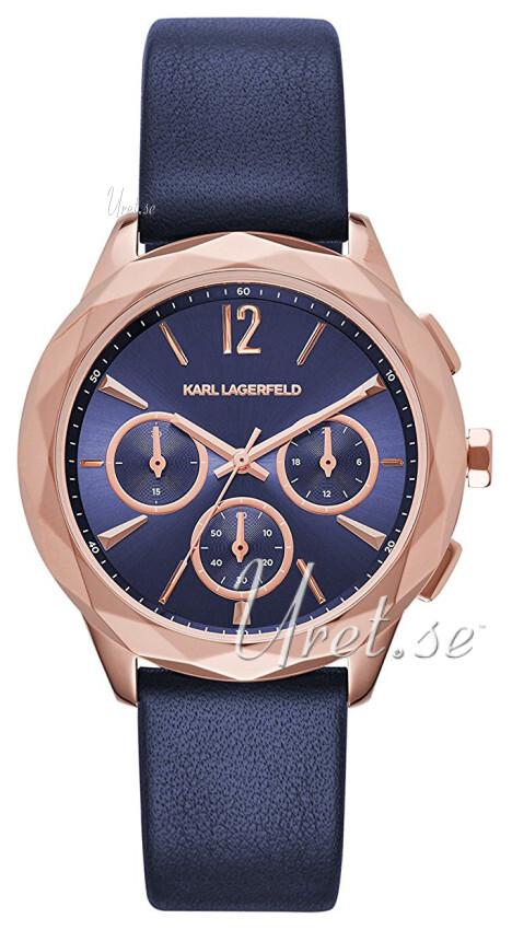 Karl Lagerfeld Optik Damklocka KL4010 Blå/Läder Ø38 mm - Karl Lagerfeld