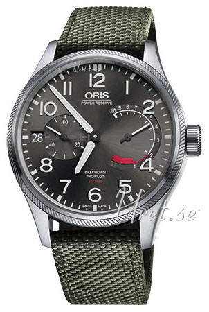 Oris Aviation Herrklocka 01 111 7711 4163-Set 5 22 14FC Grå/Textil Ø44 mm - Oris