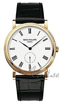 Patek Philippe Calatrava Clous De Paris Herrklocka 5119J/001 Vit/Läder - Patek Philippe