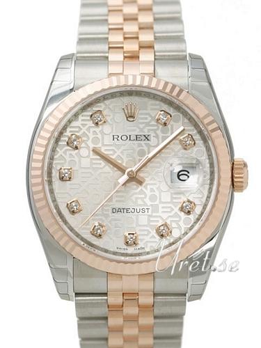 Rolex Datejust Gold/Steel Herrklocka 116231-0059 Silverfärgad/18 karat - Rolex