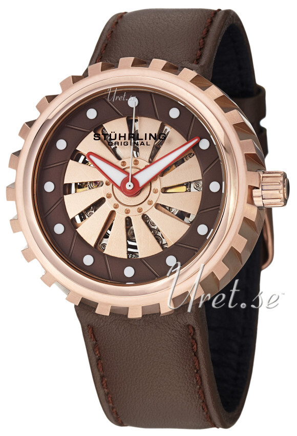 Stührling Original Aviator Renegade Herrklocka 726.04 Brun/Läder Ø45 mm - Stührling Original