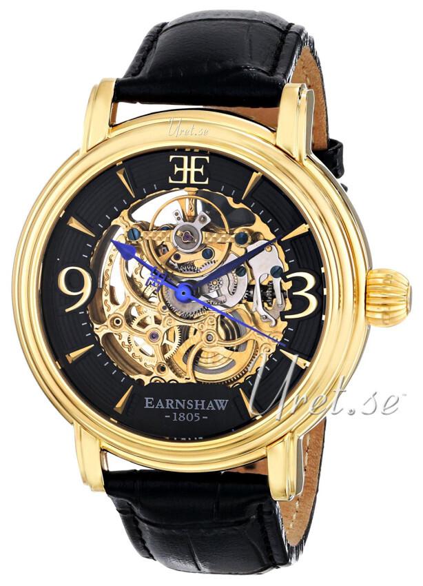 Thomas Earnshaw Longcase Herrklocka ES-8011-03 Svart/Läder Ø48 mm - Thomas Earnshaw