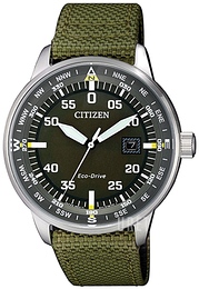 Citizen Eco Drive 180 Grön/Textil Ø42 mm BM7390-22X