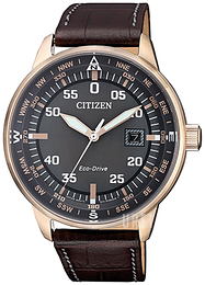 Citizen Eco Drive 180 Svart/Läder Ø42 mm BM7393-16H