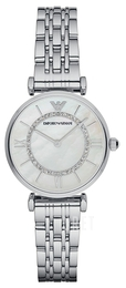 Emporio Armani Dress Vit/Stål Ø32 mm AR1908