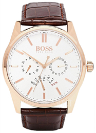 Hugo Boss Heritage Vit/Läder Ø44 mm 1513125