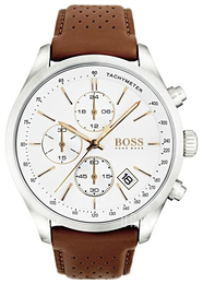 Hugo Boss Chronograph Vit/Läder Ø46 mm 1513475