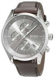 Hugo Boss Chronograph Grå/Läder Ø44 mm 1513476