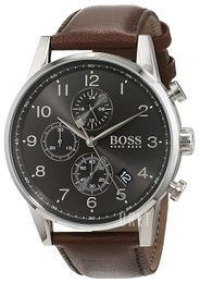 Hugo Boss Chronograph Grå/Läder Ø44 mm 1513494