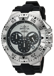 Invicta Excursion Silverfärgad/Gummi Ø50 mm 23038