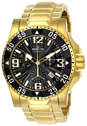 Invicta Excursion Svart/Gulguldtonat stål Ø50 mm 23903