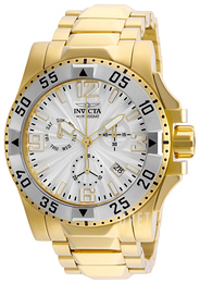 Invicta Excursion Silverfärgad/Gulguldtonat stål Ø49 mm 23905