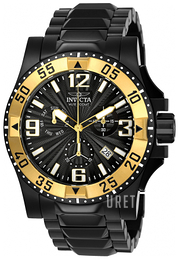 Invicta Excursion Svart/Stål Ø49 mm 23906