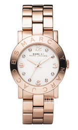 Marc by Marc Jacobs Amy Vit/Roséguldstonat stål Ø36 mm MBM3077