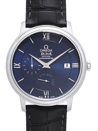 Omega De Ville Prestige Co-Axial Power Reserve 39.5mm Blå/Läder Ø39.5 mm 424.13.40.21.03.001