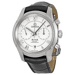 Omega De Ville Co-Axial Chronograph 42mm Silverfärgad/Läder Ø42 mm 431.13.42.51.02.001
