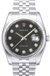 Rolex Datejust Steel Svart/Stål Ø36 mm 116234-0079