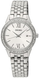 Seiko Dress Ladies Vit/Stål Ø28 mm SUR695P1