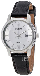 Seiko Dress Silverfärgad/Läder Ø30 mm SUR743P1