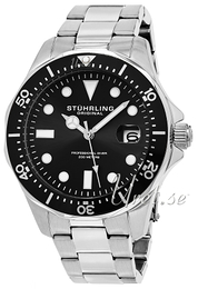 Stührling Original Aquadiver Regatta Svart/Stål Ø42 mm 824.01
