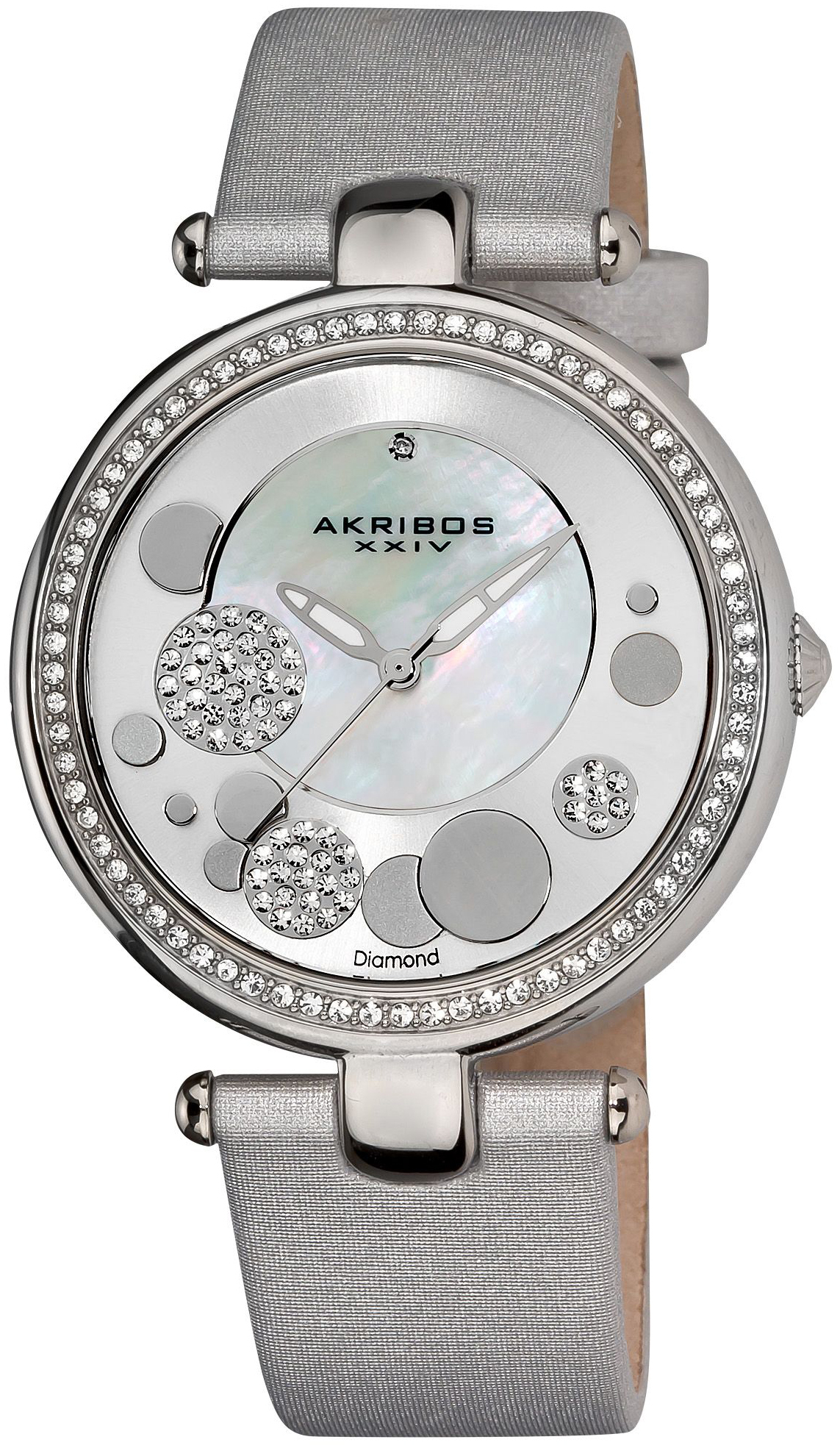 Akribos XXIV 99999 Damklocka AK434SL Silverfärgad/Läder Ø40 mm - Akribos XXIV