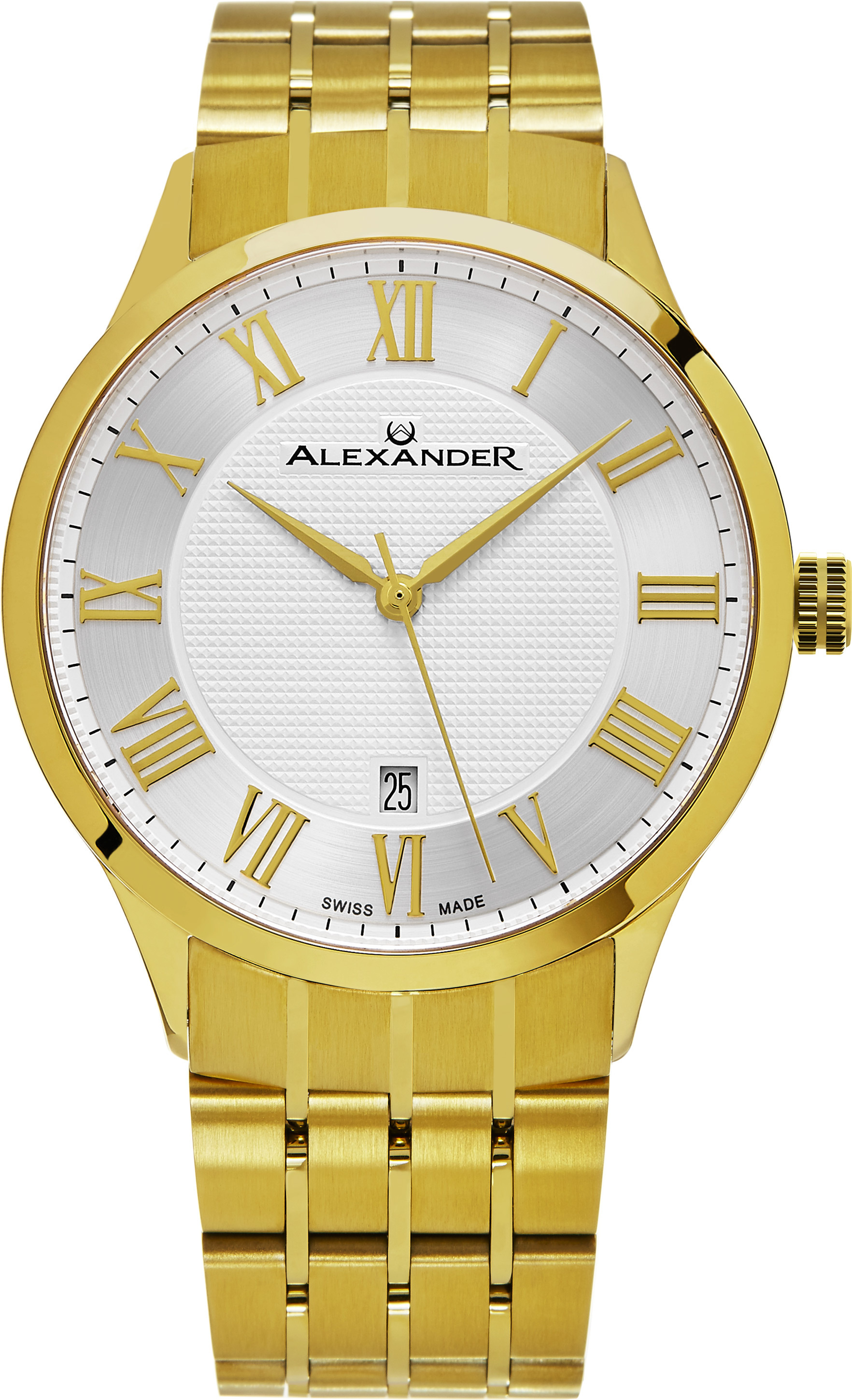 Alexander Statesman Herrklocka A103B-03 Silverfärgad/Gulguldtonat stål - Alexander
