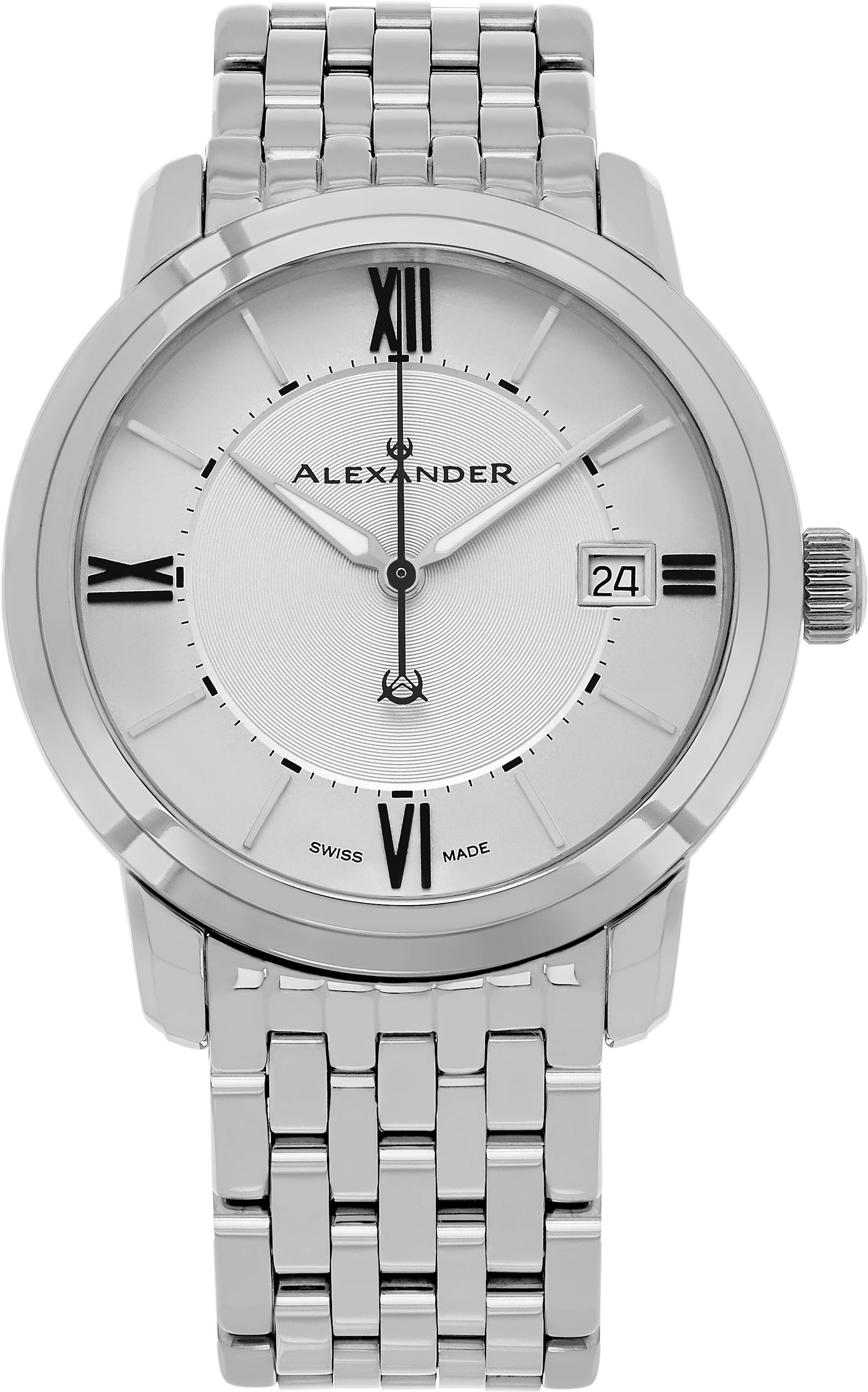 Alexander Heroic Herrklocka A111B-04 Silverfärgad/Stål Ø40 mm - Alexander