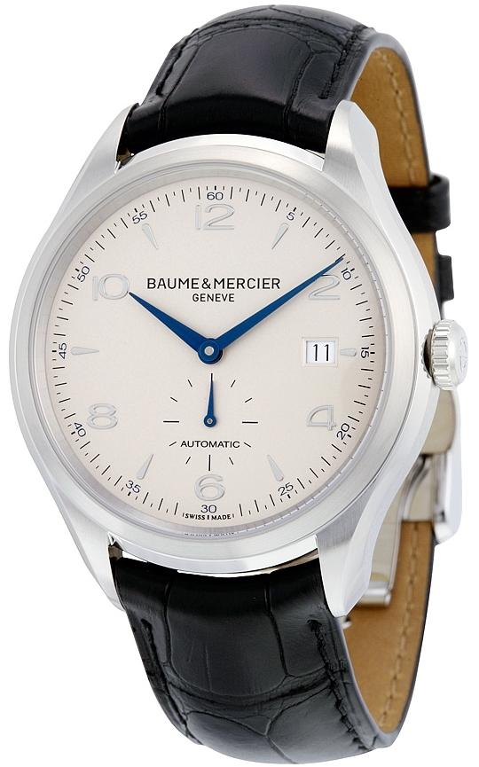 Baume & Mercier CLIFTON Herrklocka MOA10052 Silverfärgad/Läder Ø41 - Baume & Mercier