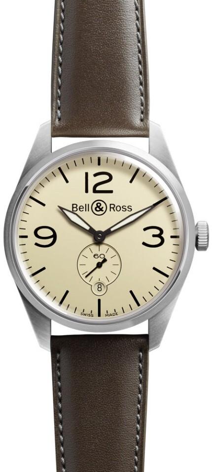 Bell & Ross BR 123 Herrklocka BRV123-BEI-ST-SCA Brun/Läder Ø41 mm - Bell & Ross