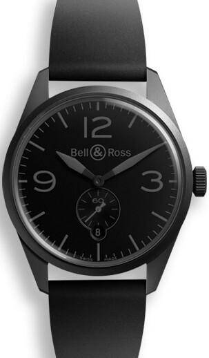 Bell & Ross BR 123 Herrklocka BRV123-PHANTOM Svart/Gummi Ø41 mm - Bell & Ross
