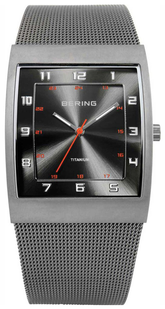 Bering Titanium Herrklocka 11233-077 Grå/Titan - Bering
