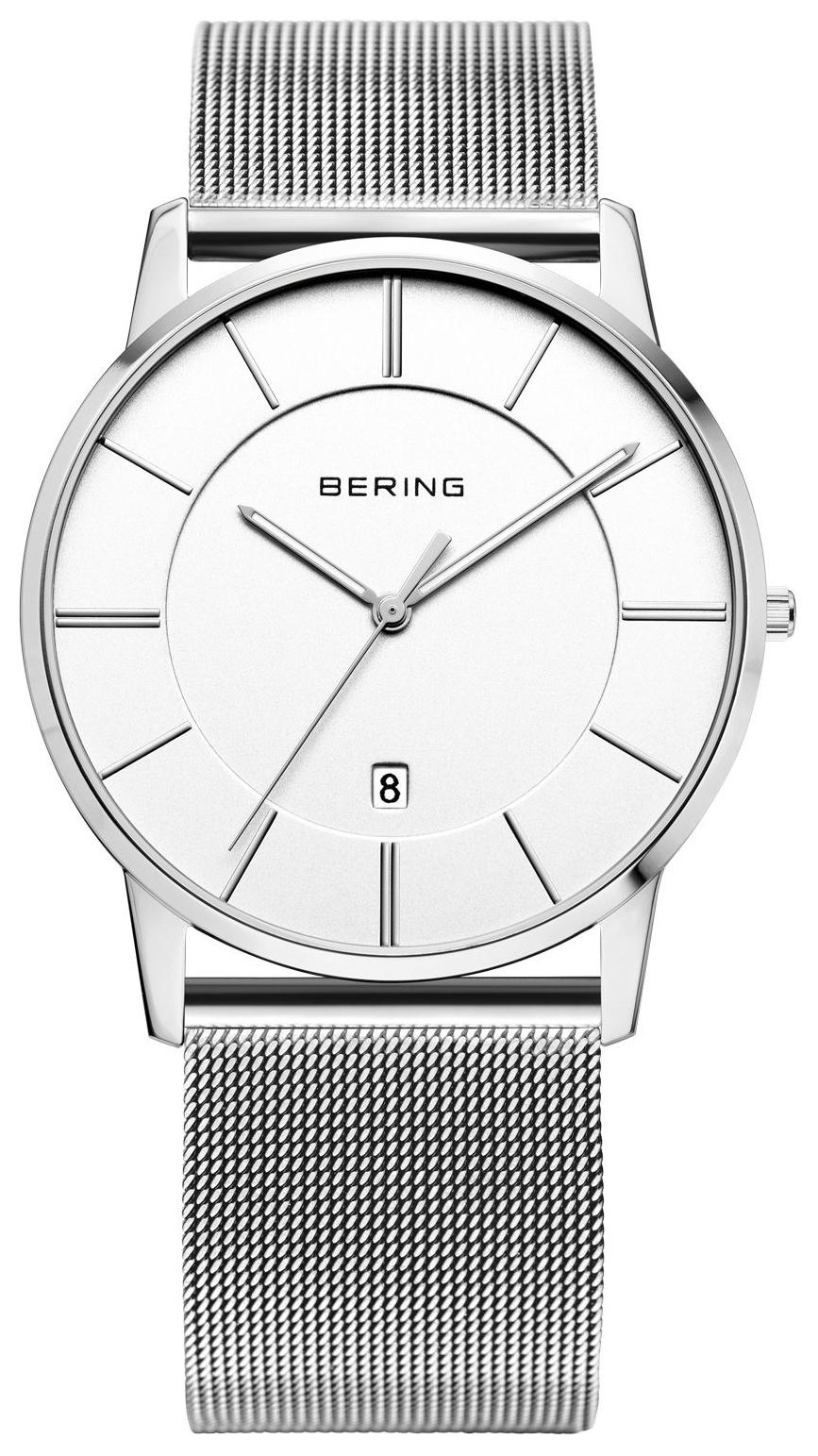 Bering Classic Herrklocka 13139-000 Vit/Stål Ø39 mm - Bering