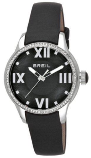 Breil Globe Herrklocka TW0782 Svart/Läder Ø36 mm - Breil