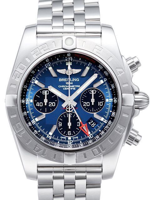 Breitling Chronomat 44 GMT Herrklocka AB042011-C852-375A Blå/Stål Ø44 mm - Breitling