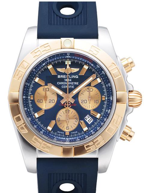 Breitling Chronomat 44 Herrklocka CB011012-C790-211S-A20D.2 Blå/Gummi - Breitling