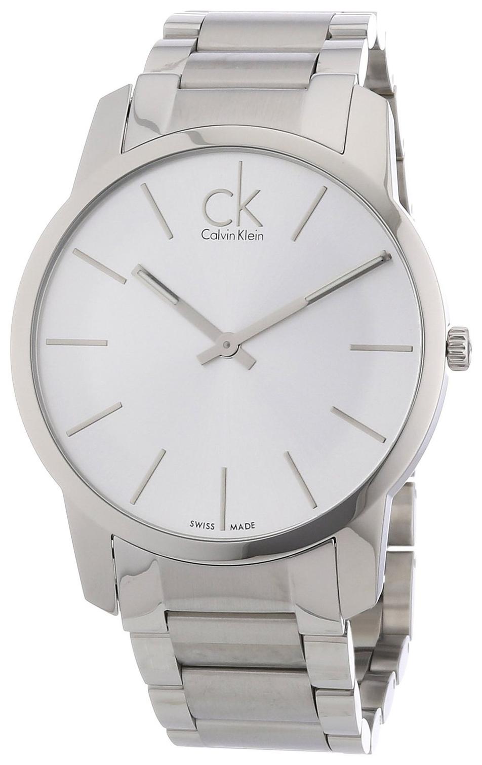 Calvin Klein City Herrklocka K2G21126 Silverfärgad/Stål Ø43 mm - Calvin Klein