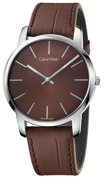 Calvin Klein City Herrklocka K2G211GK Brun/Läder Ø43 mm - Calvin Klein
