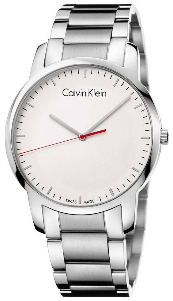 Calvin Klein Herrklocka K2G2G1Z6 Vit/Stål Ø43 mm - Calvin Klein