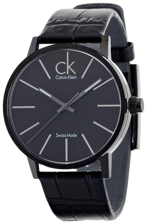 Calvin Klein Minimal Herrklocka K7621401 Svart/Läder Ø42 mm - Calvin Klein