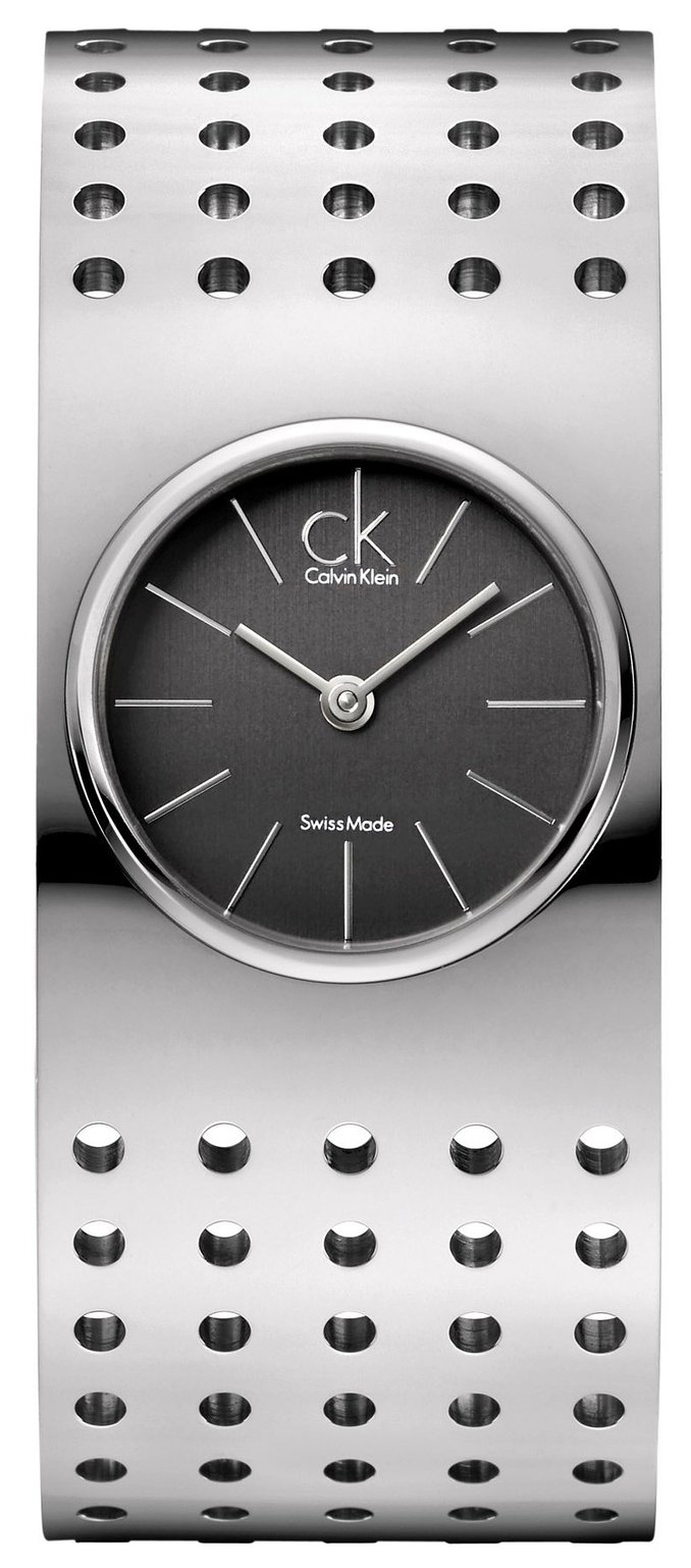 Calvin Klein Grid Damklocka K8323107 Grå/Stål Ø25 mm - Calvin Klein