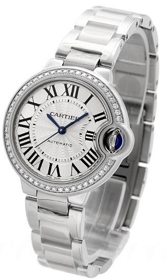 Cartier Ballon Blue Damklocka W4BB0016 Silverfärgad/Stål Ø33 mm - Cartier