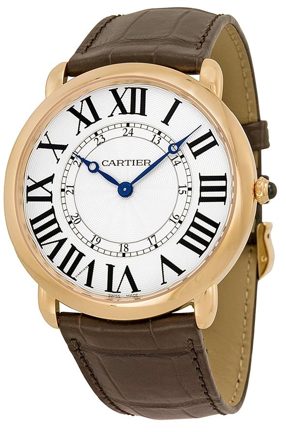 Cartier Ronde Herrklocka W6801004 Silverfärgad/Läder Ø42 mm - Cartier